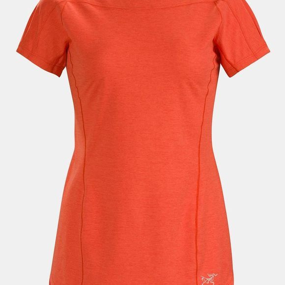 Arc'teryx Women's Taema Crew Short Sleeve Shirt Hard Coral