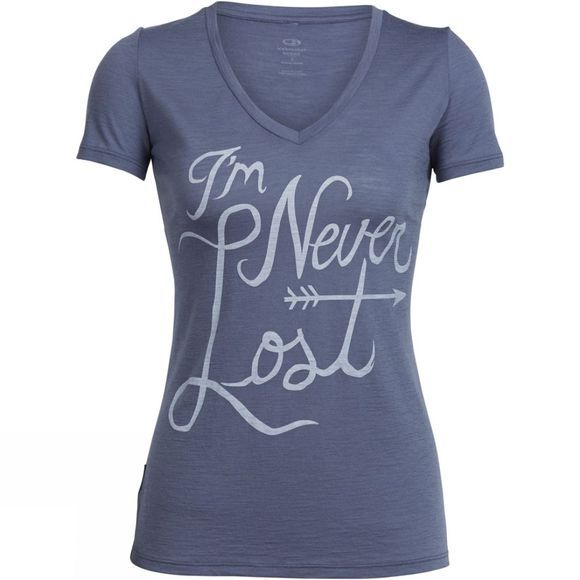 Womens Tech Lite Short Sleeve V Never Lost