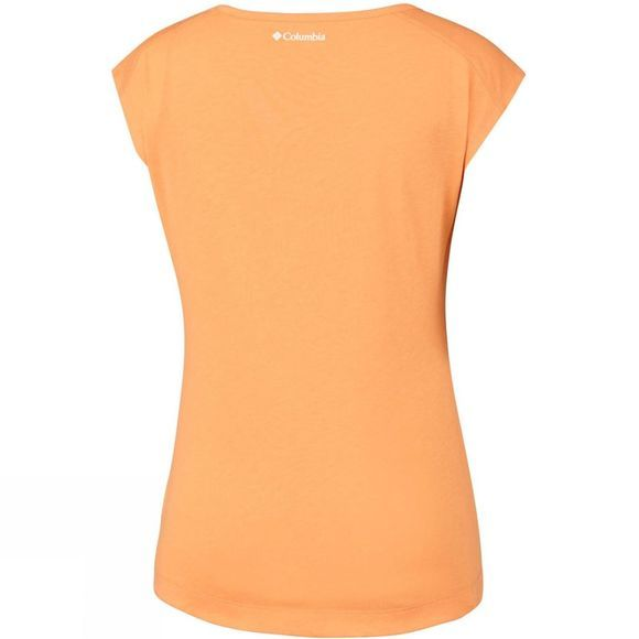 Columbia Womens Little Rock Short Sleeve Tee Summer Orange