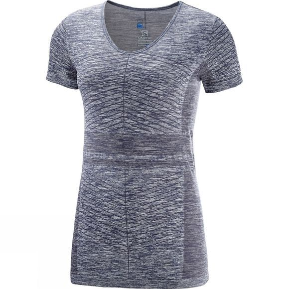 Salomon Womens Elevate Move On Short Sleeve Tee Graphite
