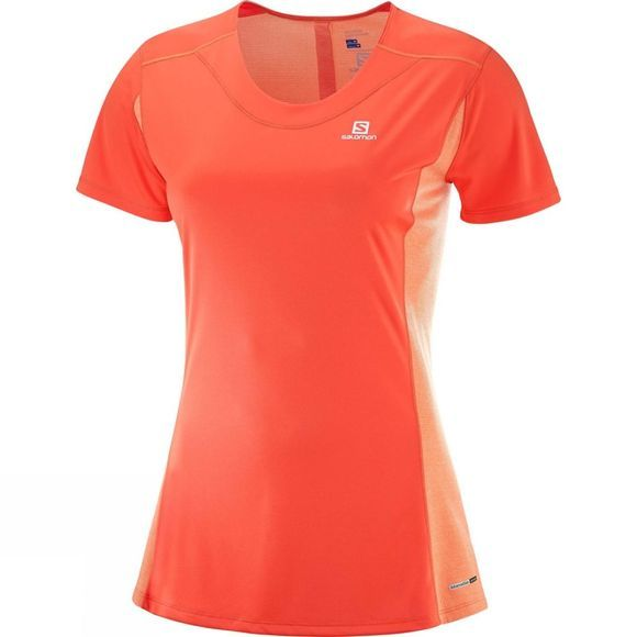 Salomon Womens Agile Heather T-Shirt Nasturtium
