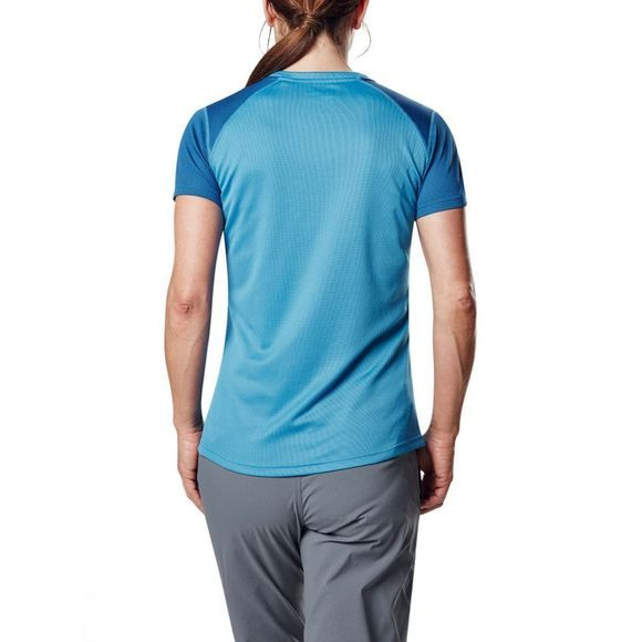 Berghaus Womens Tech Tee 2.0 Short Sleeve Crew Campanula/Galaxy Blue