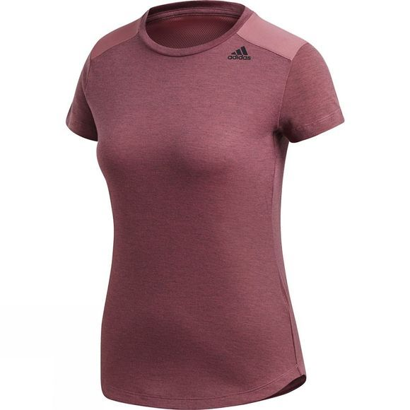 Adidas Womens Prime Tee Mix Trace Maroon