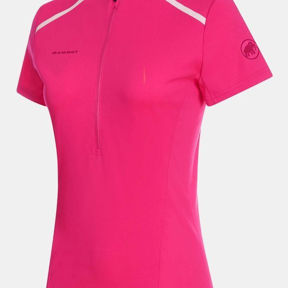 Mammut Womens Atacazo Light Zip T-Shirt Pink
