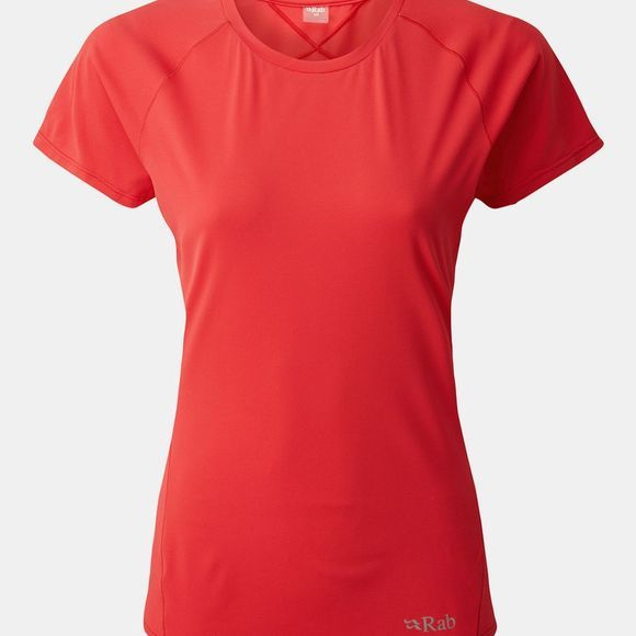 Rab Womens Force Short Sleeve T-Shirt Geranium