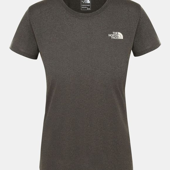 The North Face Women's Reaxion Amp Crew Shirt New Taupe Green Heather