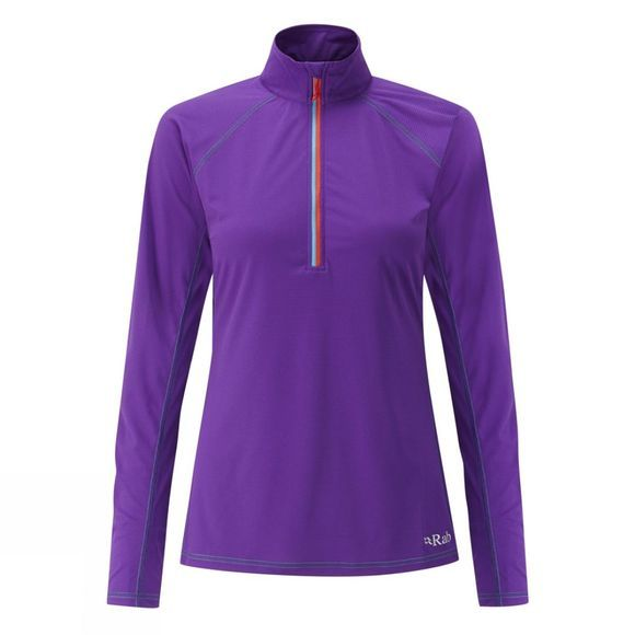 Rab Womens Interval Long Sleeve Tee Nightshade