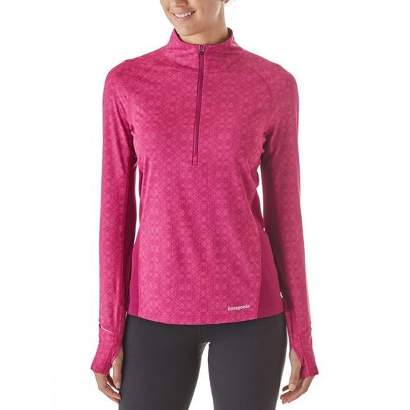 Patagonia Womens All Weather Zip-Neck Top Fin Geo:Magenta