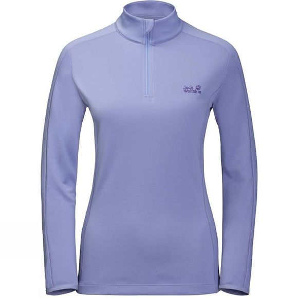 Jack Wolfskin Womens Hydropore Long Sleeve Half Zip Top Lavender