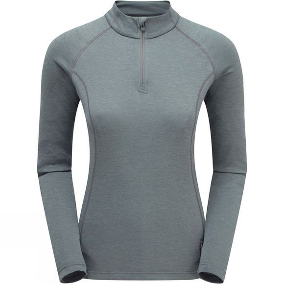 Womens Dart Zip Neck T-Shirt