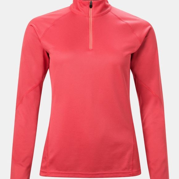 Berghaus Womens Tech Tee 2.0 Long Sleeve Zip Poinsettia