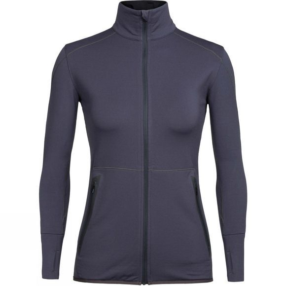Icebreaker Womens Comet Long Sleeve Zip Top Monsoon