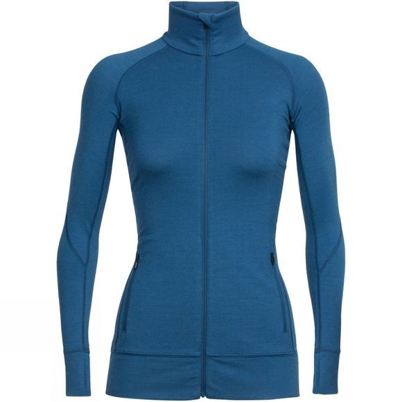 Womens Fluid Zone Long Sleeve Zip Top
