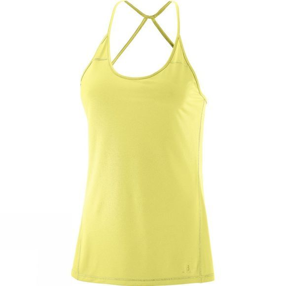 Salomon Womens Elevate Flow Tank Top Limelight