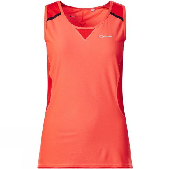 Berghaus Womens Super Tech Tee Vest Hot Coral/Volcano