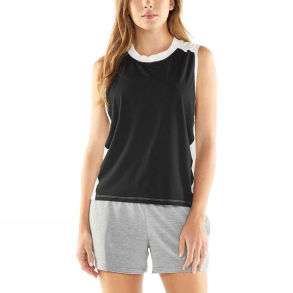 Icebreaker Womens Kinetica Sleeveless Crewe Top Black/Snow