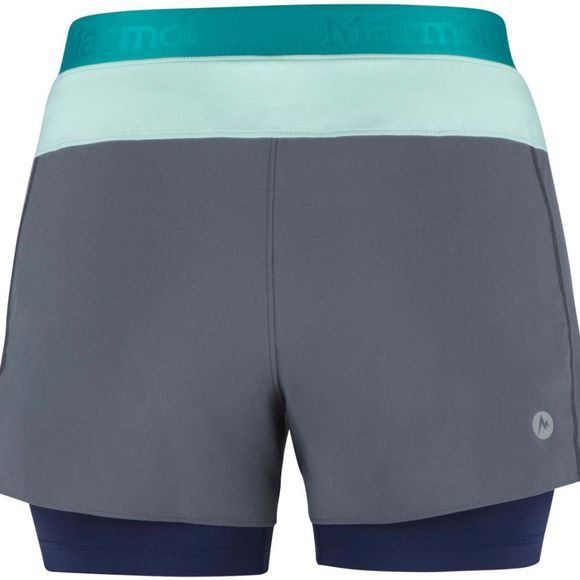 Marmot Womens Pulse Shorts Steel Onyx/Clear Sky