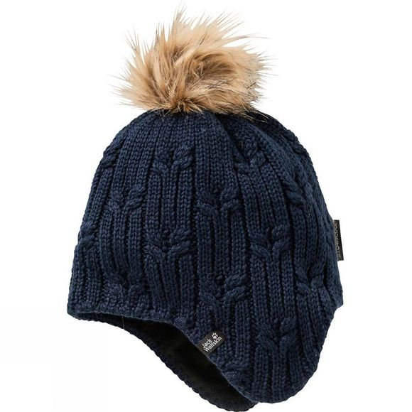 Jack Wolfskin Womens Stormlock Braid Cap Midnight Blue