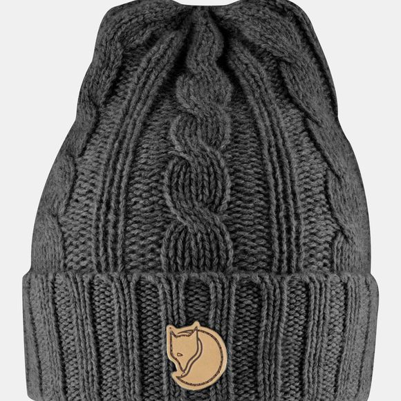 Fjallraven Braided Knit Hat Dark Grey