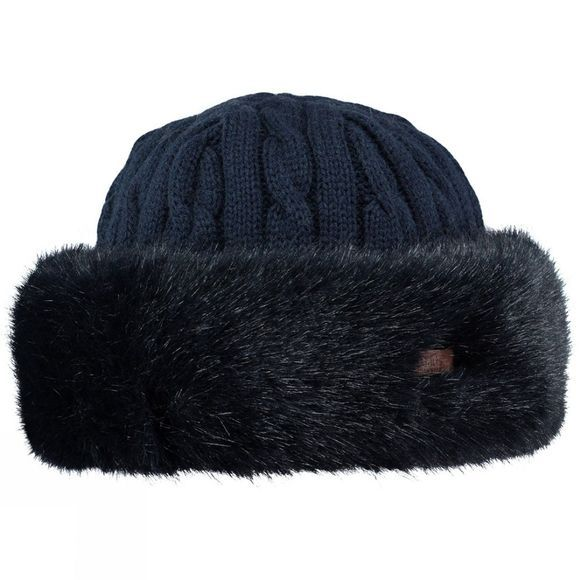 Barts Womens Fur Cable Bandhat Navy