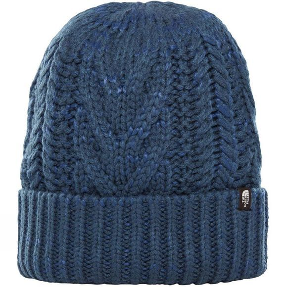 The North Face Womens Cable Minna Beanie Blue Wing Teal