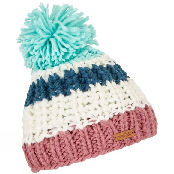 Weird Fish Womens Kathy Bobble Hat Deep Sea Blue