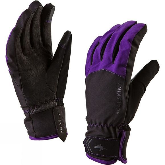 SealSkinz Womens All Season Glove Black/Purple