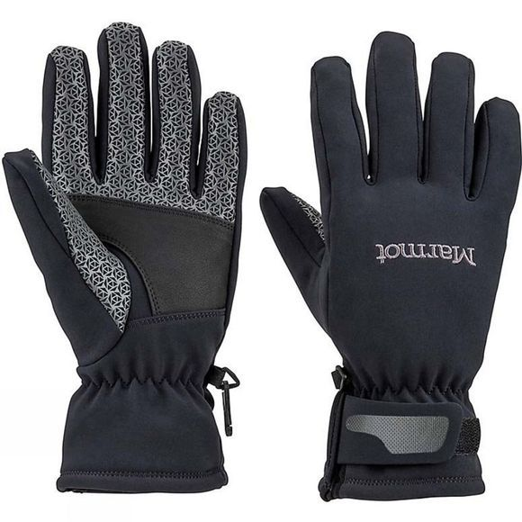 Marmot Womens Glide Softshell Glove Black
