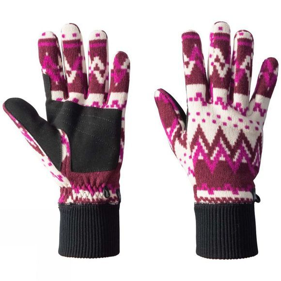 Jack Wolfskin Womens Scandic Glove Garnet Red All Over