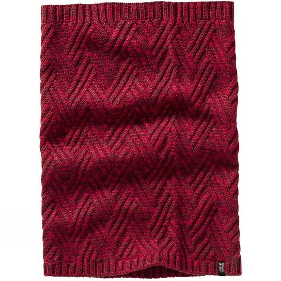 Jack Wolfskin Womens Norwegian Loop Scarf Garnet Red