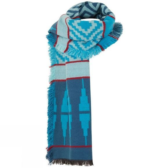 Weird Fish Womens Denka Scarf Deep Sea Blue