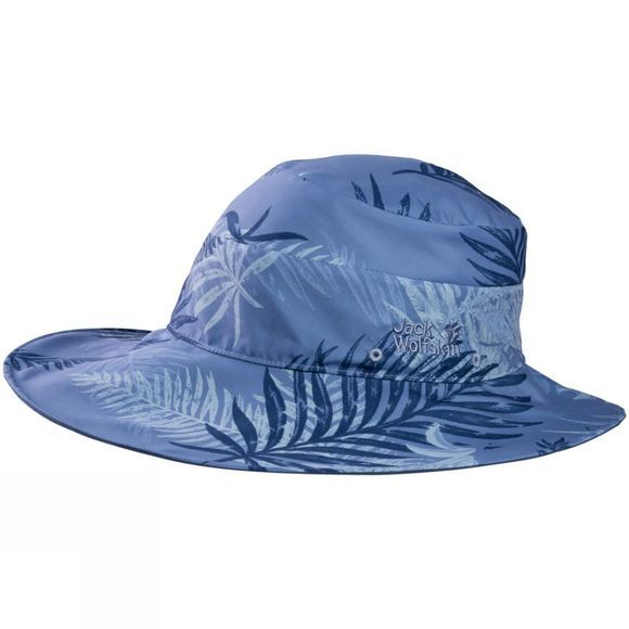 Jack Wolfskin Womens Wahia Palm Hat Dusk Blue All Over