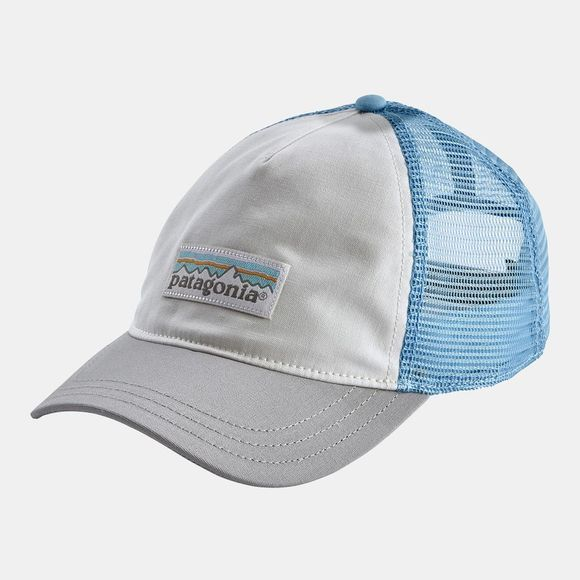 Patagonia Womens Pastel P-6 Label Layback Trucker Hat White/Drifter Grey