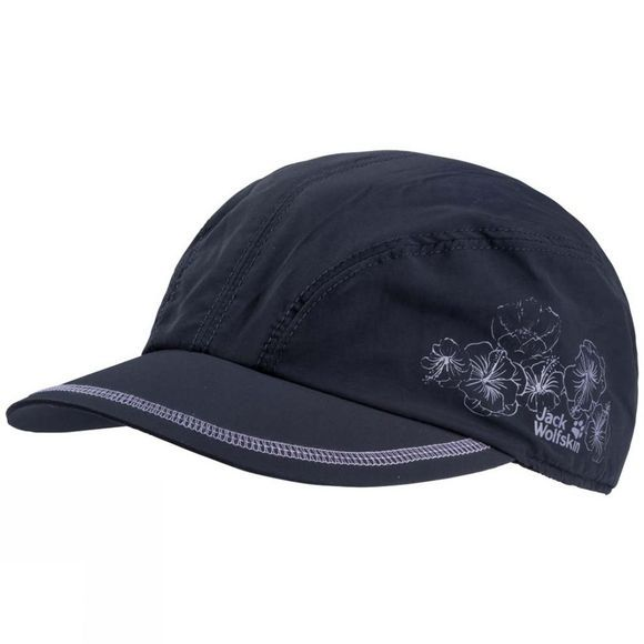 Jack Wolfskin Womens Supplex Hibiscus Hat Midnight Blue