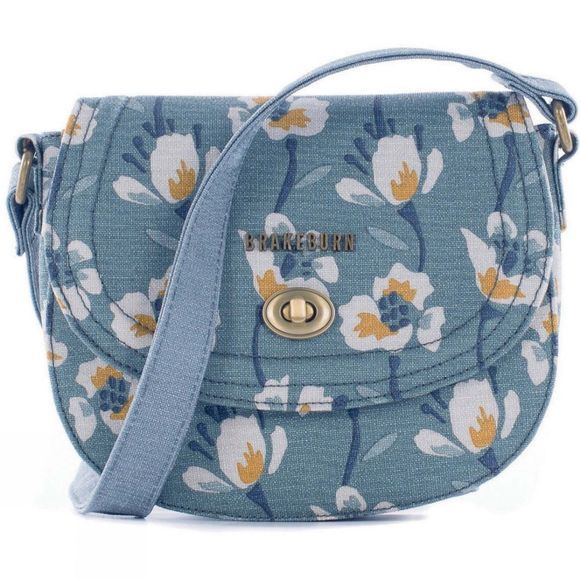 Womens Large Floral Small Saddle Bag