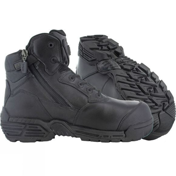 d13ecf202cc Stealth Force 6.0 Side Zip Toe Bumper Composite Toe and Plate Boot