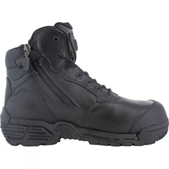 b754b930a51 Stealth Force 6.0 Side Zip Toe Bumper Composite Toe and Plate Boot