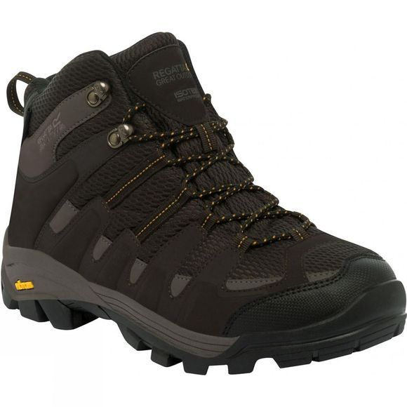 Regatta Mens Burrell Mid Walking Boot Peat/Treetop