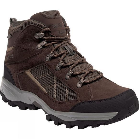 Regatta Mens Clydebank Hiking Boot Chesnut / Antique Gold