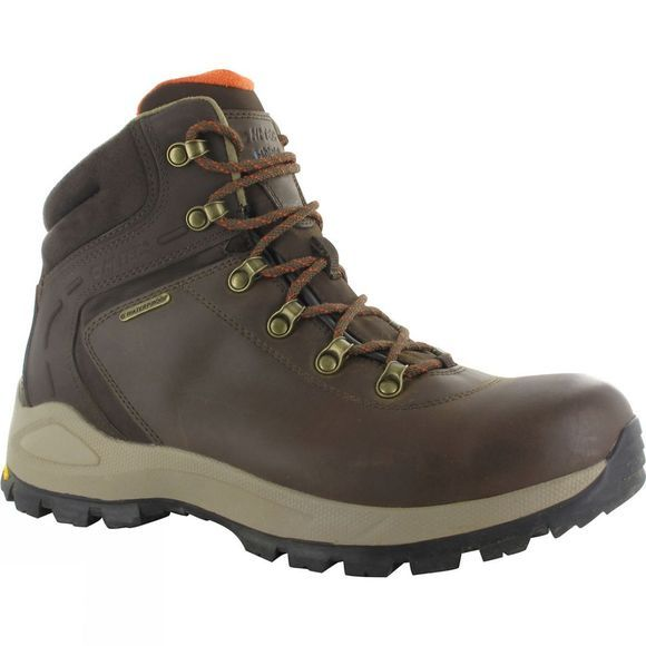 Hi-Tec Mens Altitude Alpyna Midi Waterproof Boot Chocolate/Burnt Orange