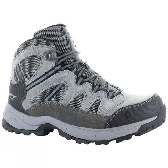 Hi-Tec Mens Bandera Lite Mid Waterproof Boot Charcoal/Grey/Goblin Blue