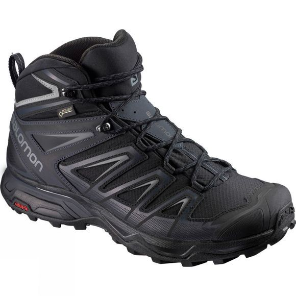 Salomon Mens X Ultra 3 Wide Mid GTX Boot Black/India Ink/Monument
