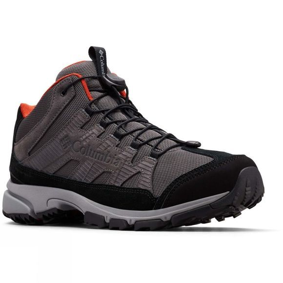 Columbia Mens FIVE FORKS MID Waterproof Hiking Boot Dark Grey/ Flame