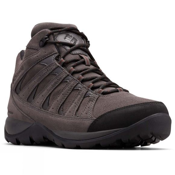 Columbia Mens REDMOND V2 Leather MID Waterproof Hiking Shoe Dark Grey/ Madder Brown