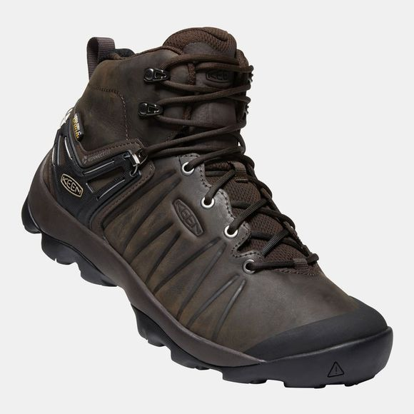 Keen Men's Venture Mid Leather WP Boot Mulch/Black