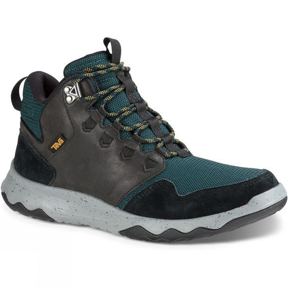 Teva Mens Arrowood Mid Waterproof Boot Black/Deep Teal