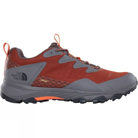 The North Face Mens Ultra Fastpack III GTX Shoe Scarlet Ibis/Dark Gull Grey