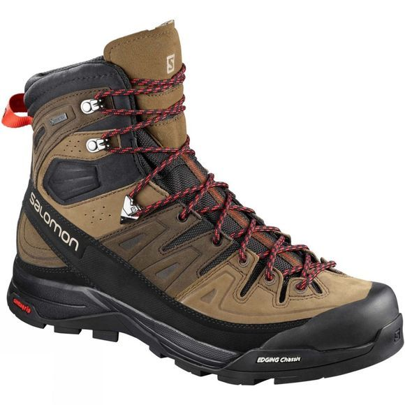 Salomon Mens  X Alp High Ltr Gtx Boot Slate Black/Teak/Fiery Red