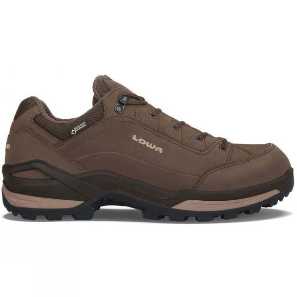 Lowa Mens Renegade Low GoreTex Shoes (Wide) Expresso / Beige