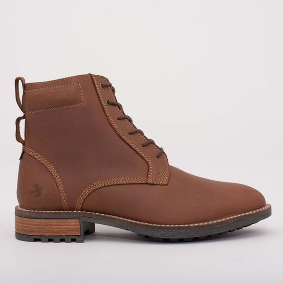 Brakeburn Mens Leather Work Boot Brown